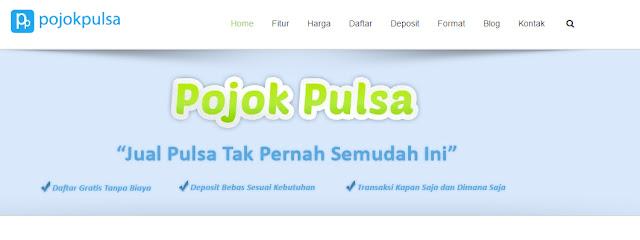 Tampilan Halaman Depan Website http://pojokpulsa.co.id
