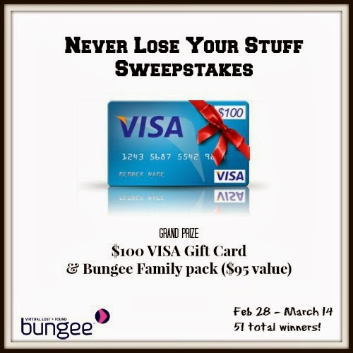 Enter the Never Lost Your Stuff Sweepstakes, ends 3/14.