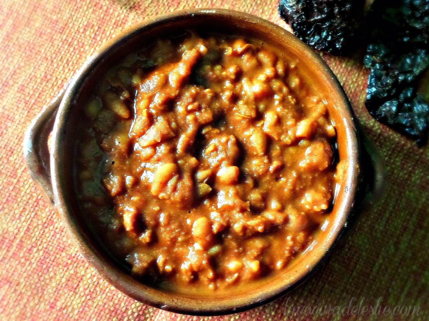 Beans in Adobo Sauce (Frijoles Adobados) - lacocinadeleslie.com