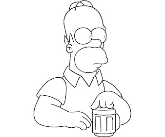 #4 The Simpsons Coloring Page
