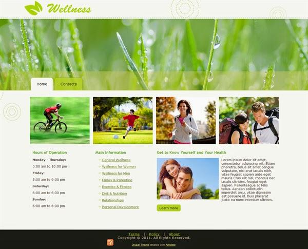 Wellness - Free Drupal Theme