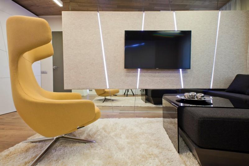 hogares frescos sala de tv por geometrix dise o. Black Bedroom Furniture Sets. Home Design Ideas