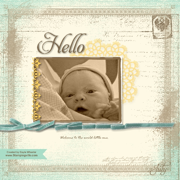 Digital Scrapbook Page - My Digital Studio MDS2+