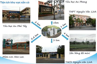 Tiện ích khu vực quanh Nhà ở xã hội: căn hộ trả góp HQC Plaza tại TPHCM