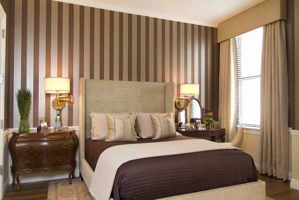Bedroom Paint Ideas Stripes home paint ideas: paint vertical stripes on the walls right around