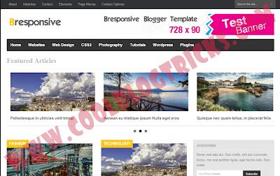 Bresponsive :- Blogger Template Free For Tech World