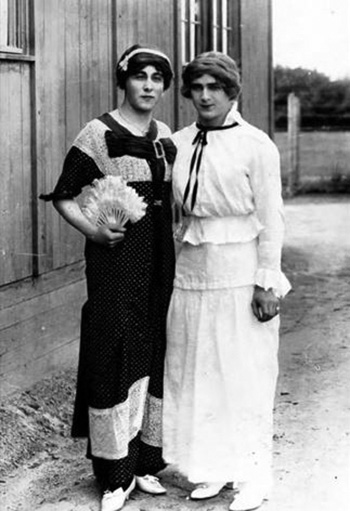 Two lads, circa 1910.