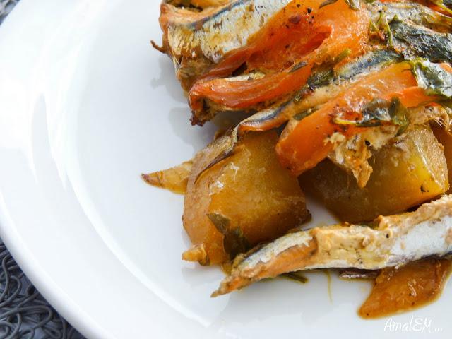 Ça titille les papilles !, Anchois, Poisson, Tajine, Pommes de terre, Tomates