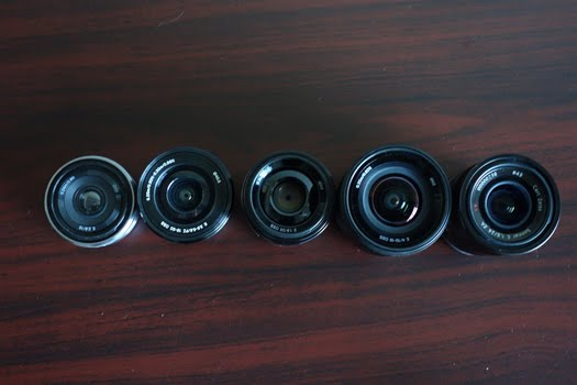 sony nex 35mm 24mm 16-50mm 10-18mm lens