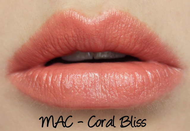 MAC Enchanted Eve - Coral Lip Palette Coral Bliss Swatches & Review