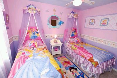 Decoraci n de dormitorios para ni as con las for Cuartos de princesas
