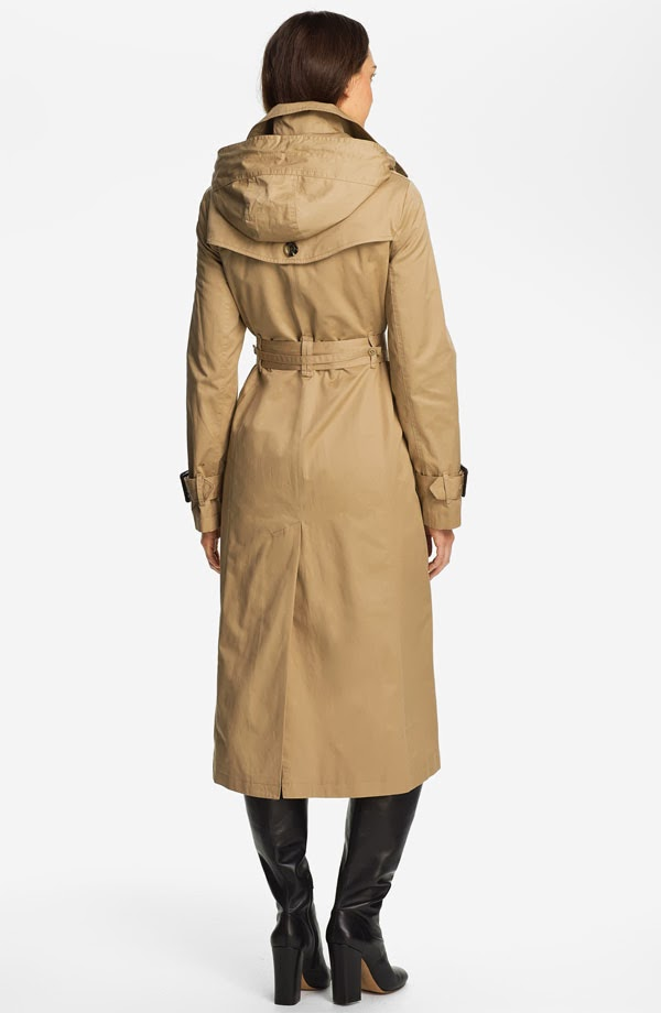 The Leather Look: Classic London Fog trench look