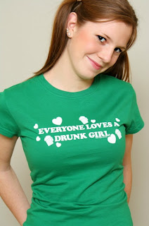 saint+patricks+day+drunk+girl+tee Saint Patricks Day T Shirts: Everybody Loves A Drunk Girl St. Paddys Tee