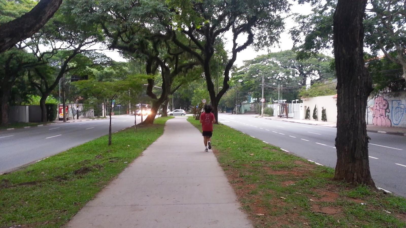 Pista de corrida e caminhada na Avenida Pedroso de Morais - Corrida de Rua