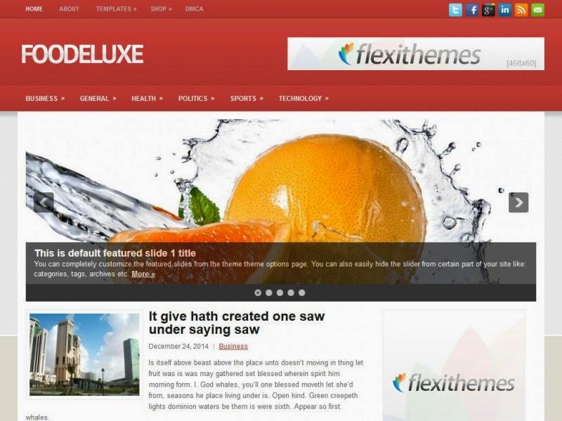FooDeluxe - Free Wordpress Theme