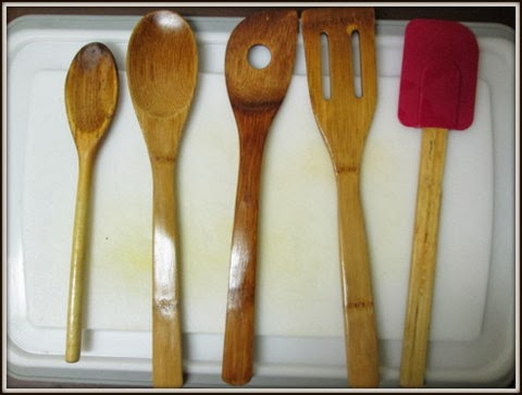 oiled wooden spoons