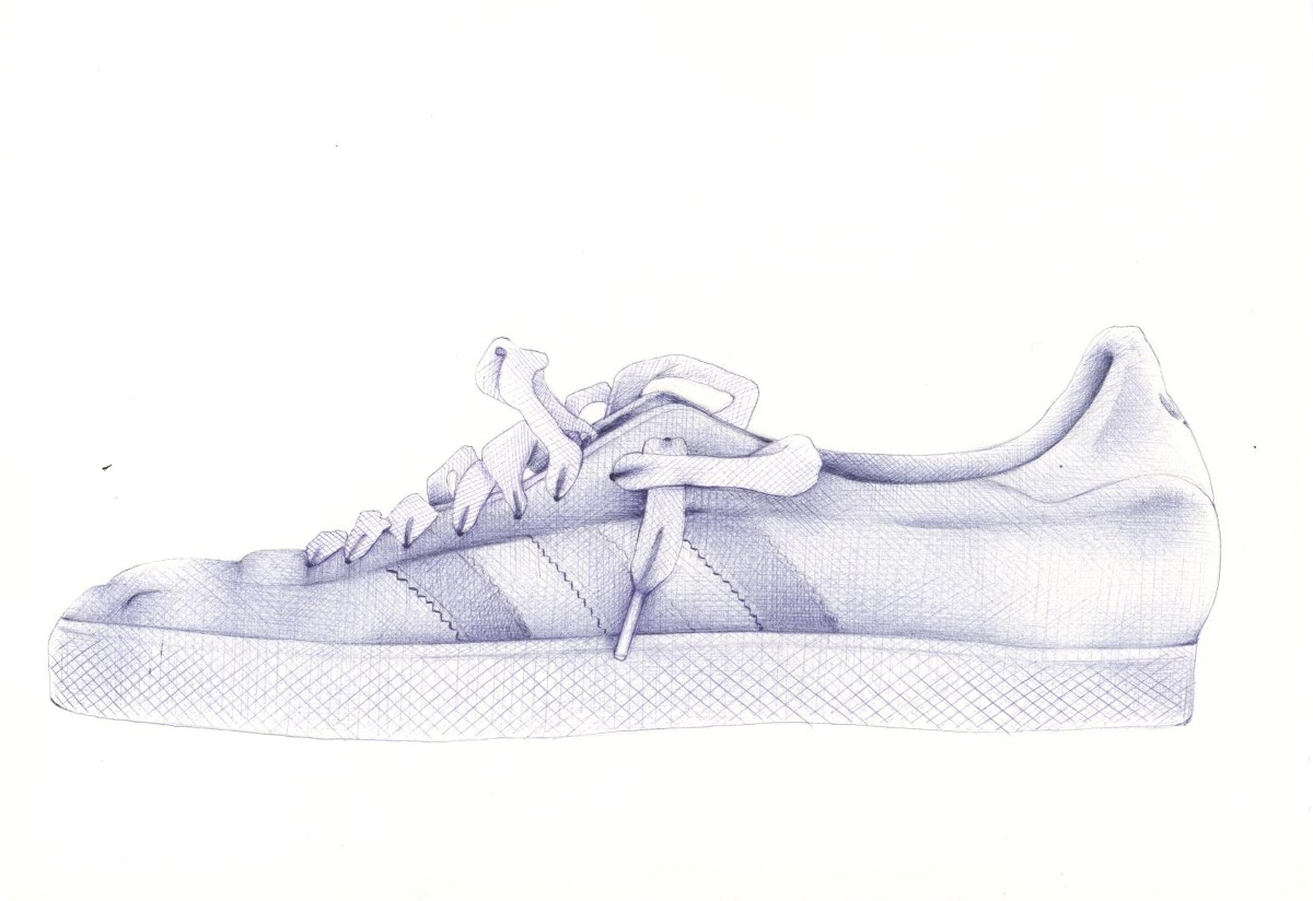 This Is The Part Where I Feel I Can Really Get Into The Zone With This  Drawing I Love This Bit The Shoe Is Starting To