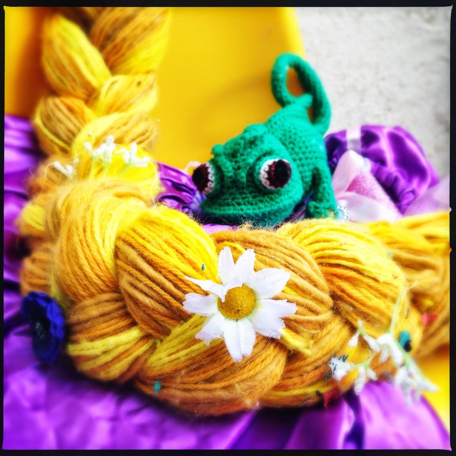 le caméléon de Raiponce au crochet aufildesenvies