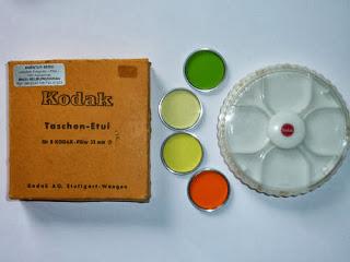 Kodak Filter-Etui für 8 Filter-mit 4 Filter 32mm/Orange-grün-gelb+hellgelb Z-2