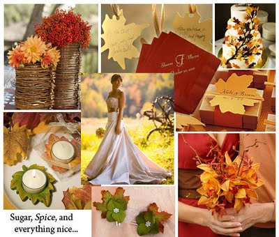 First wedding themed color Gold is a symbol of Fall if you choose this
