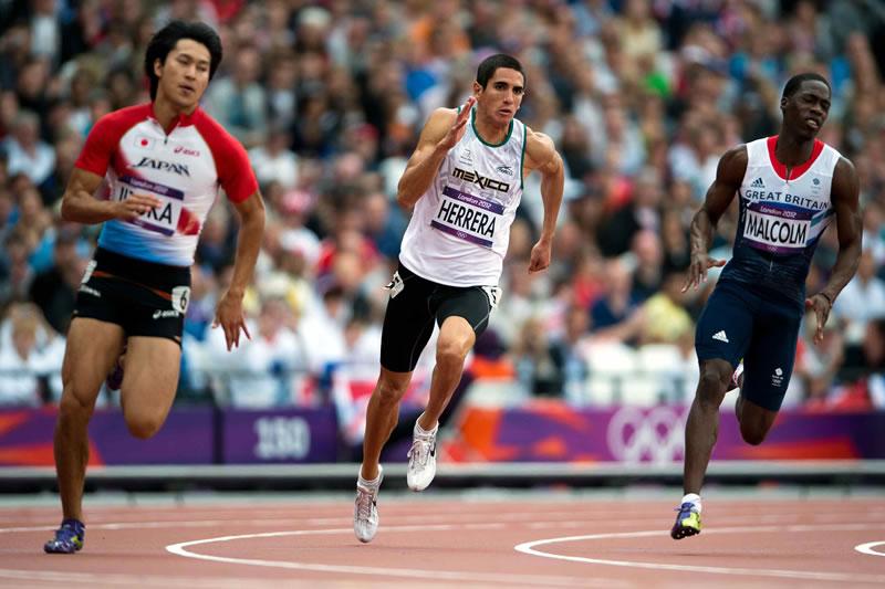 Mexikanischer Athlet im 200 m Sprint an Olympia
