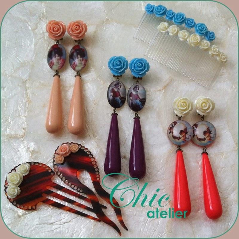 Pendientes y complementos de moda flamenca hechos a mano