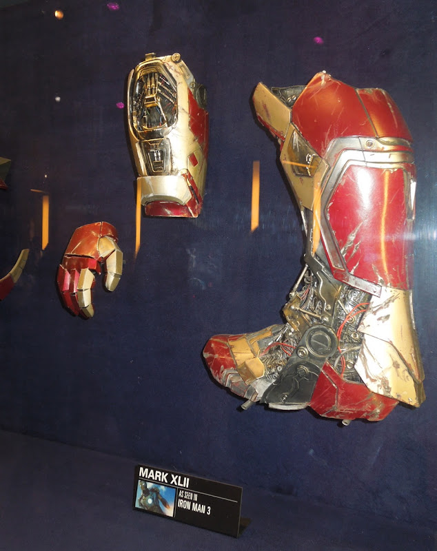 Iron Man 3 boot gauntlet props