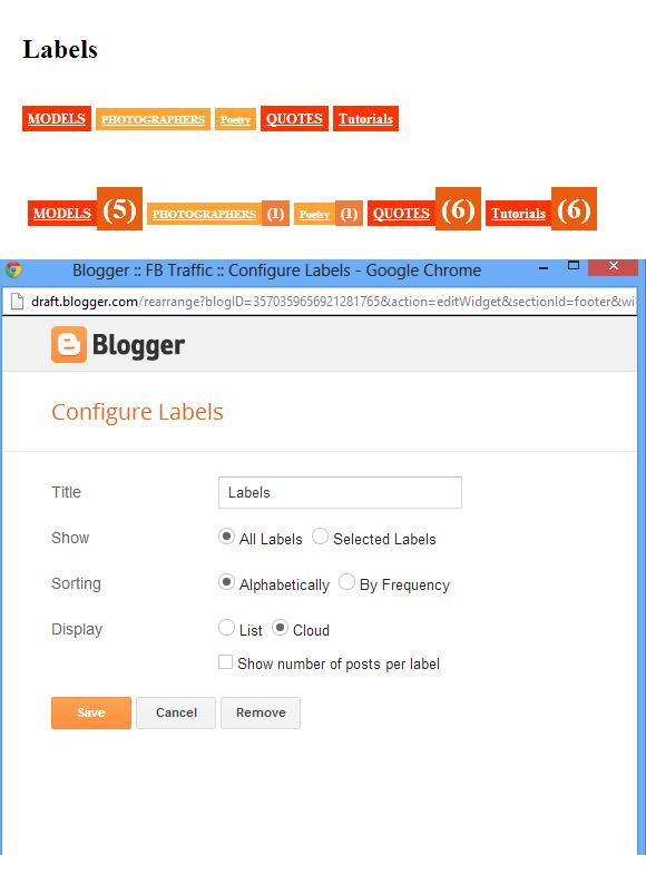 Label Cloud Widget