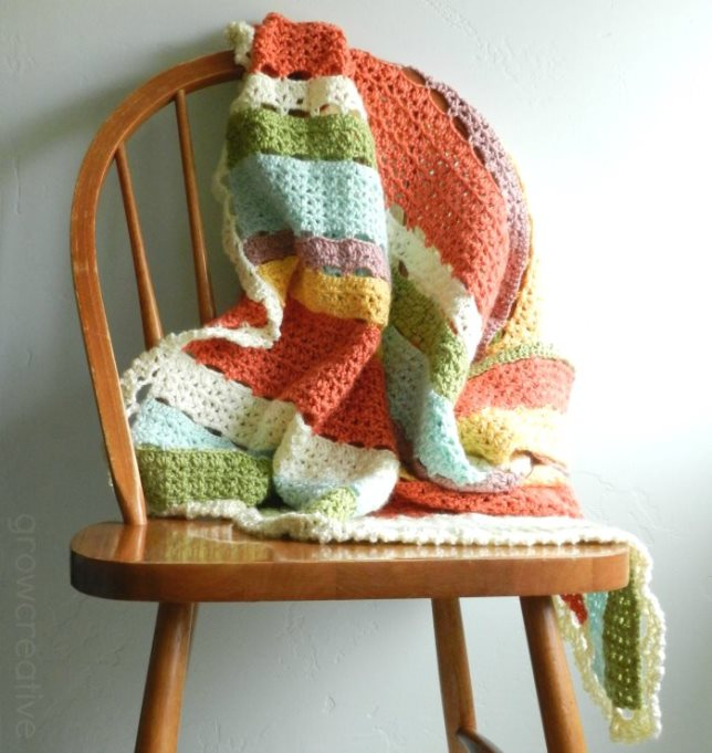 Striped Crochet Baby Blanket and Free Pattern