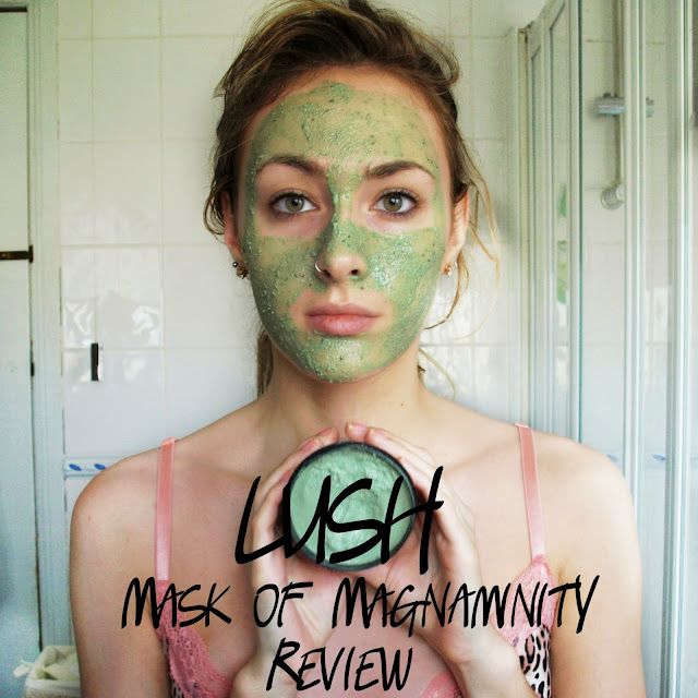 LUSH oxford street COSMETICS- Mask of Magnaminity Review - self-preserving acne mask before