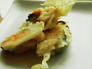 tempura de mejillones