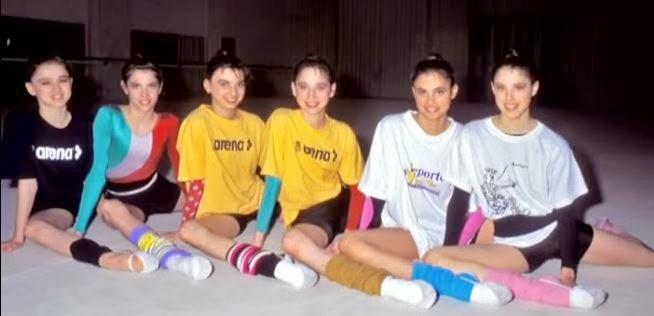 Gimnastas del equipo español de rítmica que ganaron el oro en Atlanta 96