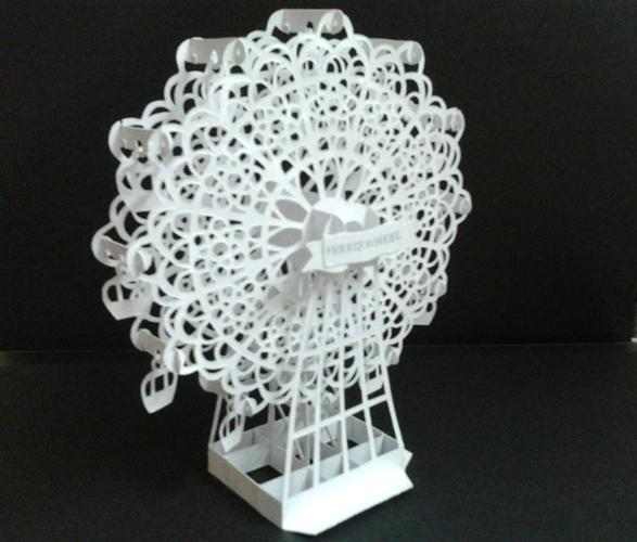 [Kirigami] [180 độ] 12 Pattern của Hiroko Ferris+wheels+-+hiroko