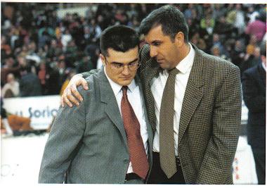 Zeljo Obradovic y Paco García. Enero 1997