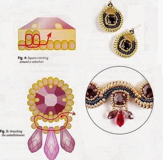Ожерелье из бисера в технике ндебеле. ожерелье из бисера схемы плетения.