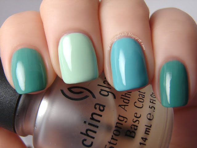nails nailart nail art polish mani manicure Spellbound Sephora OPI Tinsel Town Collection Read My Palm mint light jade green swatch swatched swatching Sally Hansen Mint Sorbet chocolate chip ice cream creme Wet n Wild I Need A Refresh-Mint ombre comparison mints bubblegum wintergreen haul
