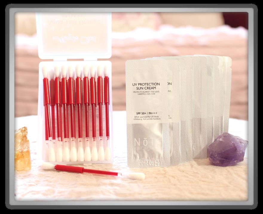 겟잇뷰티박스 by 미미박스 memebox beautybox Special #25 Traveler's Beauty Kit unboxing review s&b tint orange nots sun cream