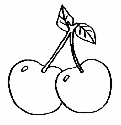 Desenhos De Frutas Para Colorir Cereja