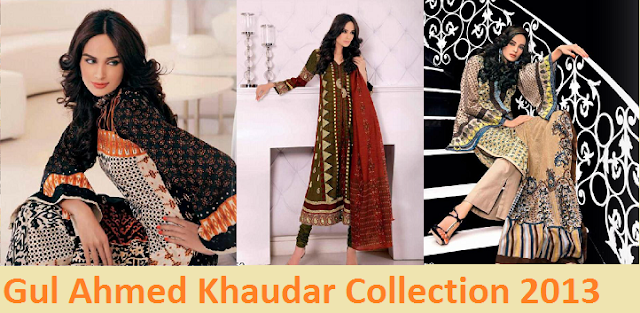 Gul ahmed Khaudar latest design of 2013