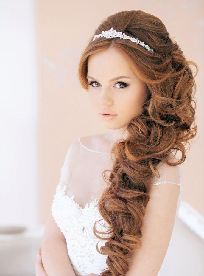 65 peinados de novia 2018 ¡causarás sensación! Zankyou - Peinados Novia Pelo Suelto 2017