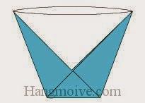 Bước 6: Hoàn thành cách xếp cái cốc, ly uống nước bằng giấy.
