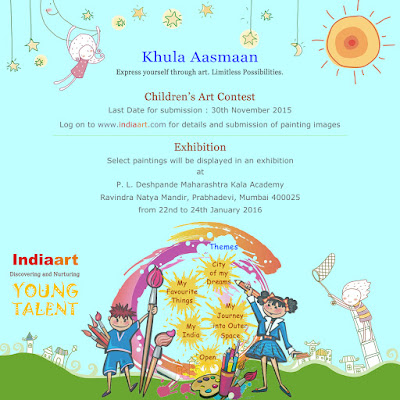 Khula Aasmaan by Indiaart - exhibition dates announced - 22nd to 24th January 2016