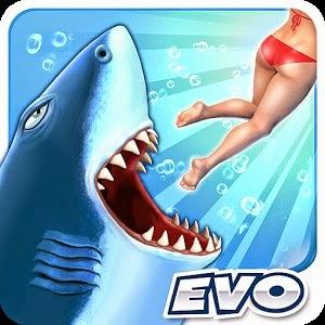 تحميل لعبة سمك القرش الجائع Hungry Shark للاندرويد مجانا