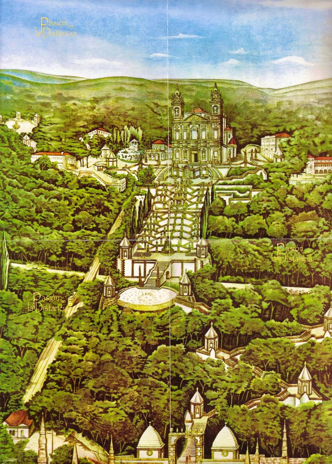 Imagen del conjunto del Santuario de Bom Jesú do Monte en Braga