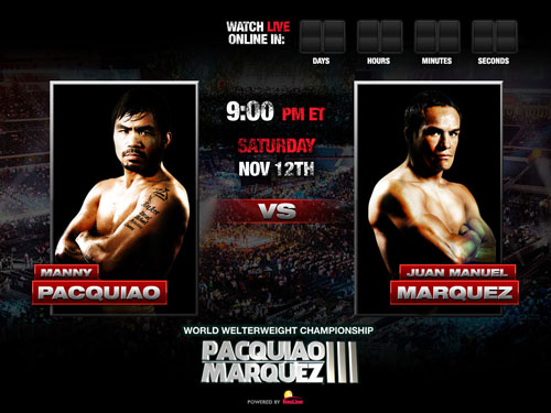 Watch Pacquiao vs Marquez Fight Live Stream PPV Online Top Rank TV 