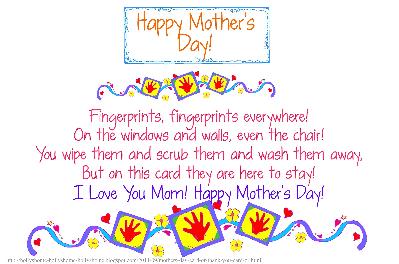 Mother's Day Mom Poems
