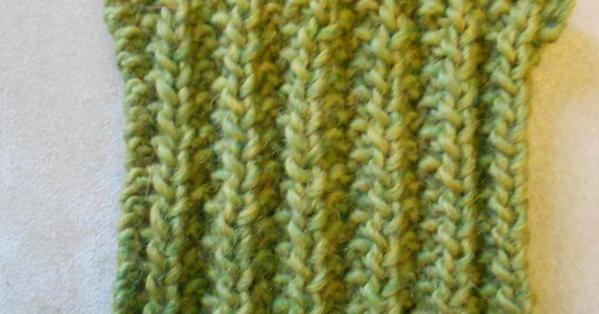 Mistake Rib Knit Stitch In The Round : Blue Betty: Stitch Guide: Mistake Rib