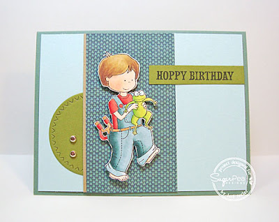 Hoppy Birthday card-designed by Lori Tecler/Inking Aloud-stamps and dies from SugarPea Designs