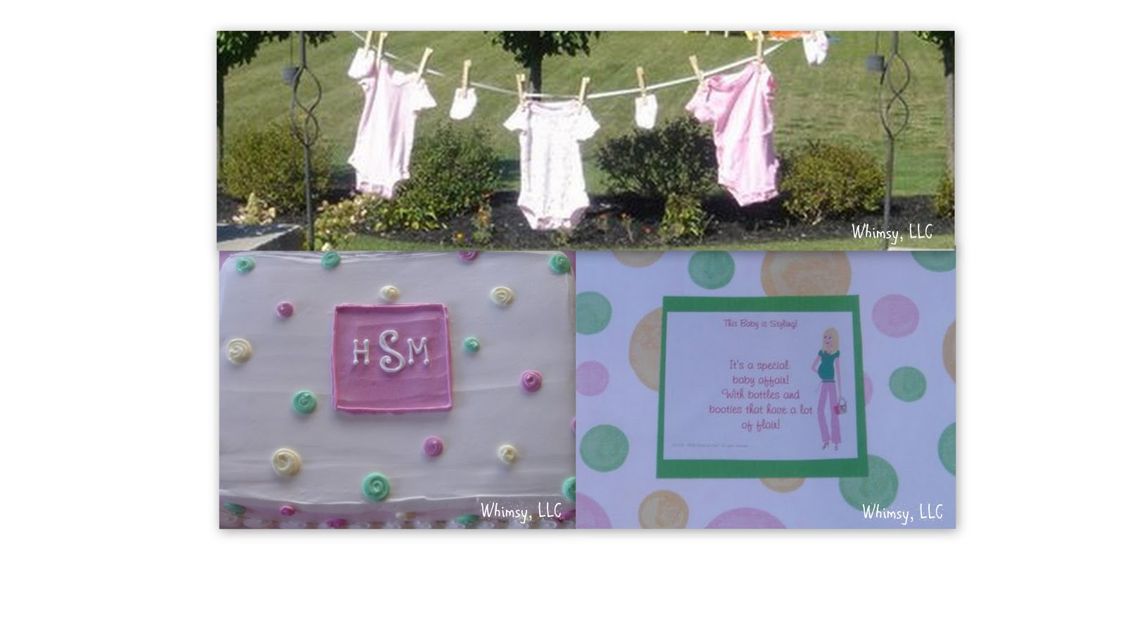 whimsy polka dot baby shower