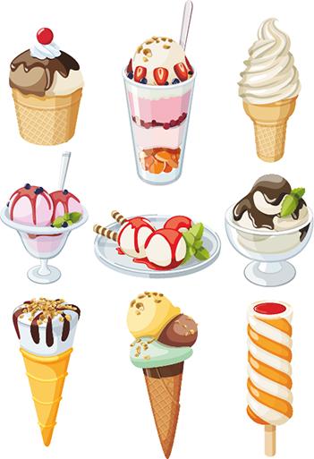 helados vectoriales